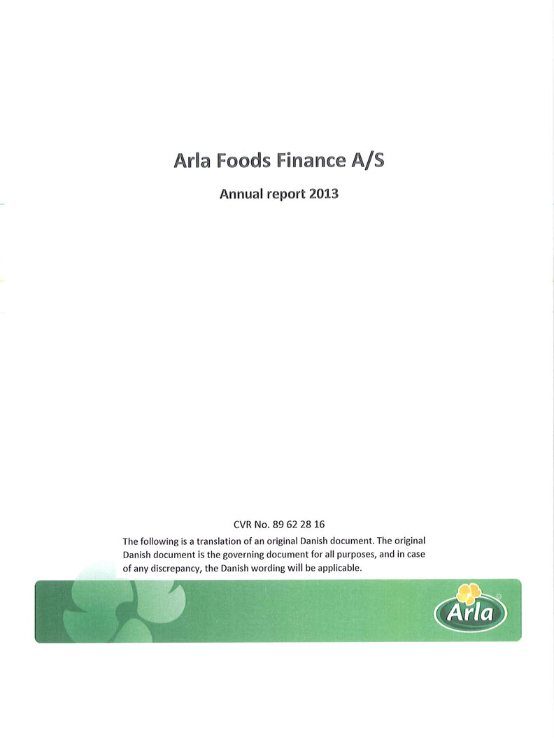 Arla Foods Finance A/S 2013